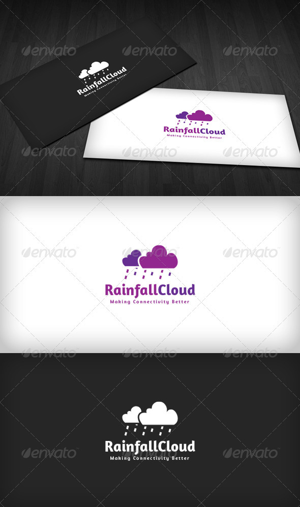 Rainfall Cloud Logo - Nature Logo Templates