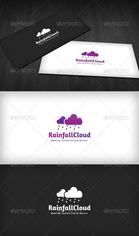 Rainfall Cloud Logo