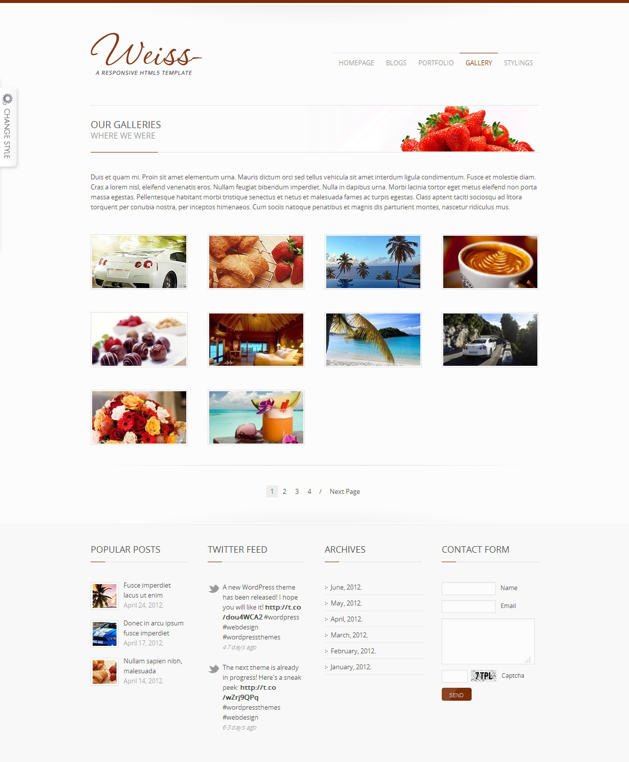 Weiss - Responsive HTML5 Template