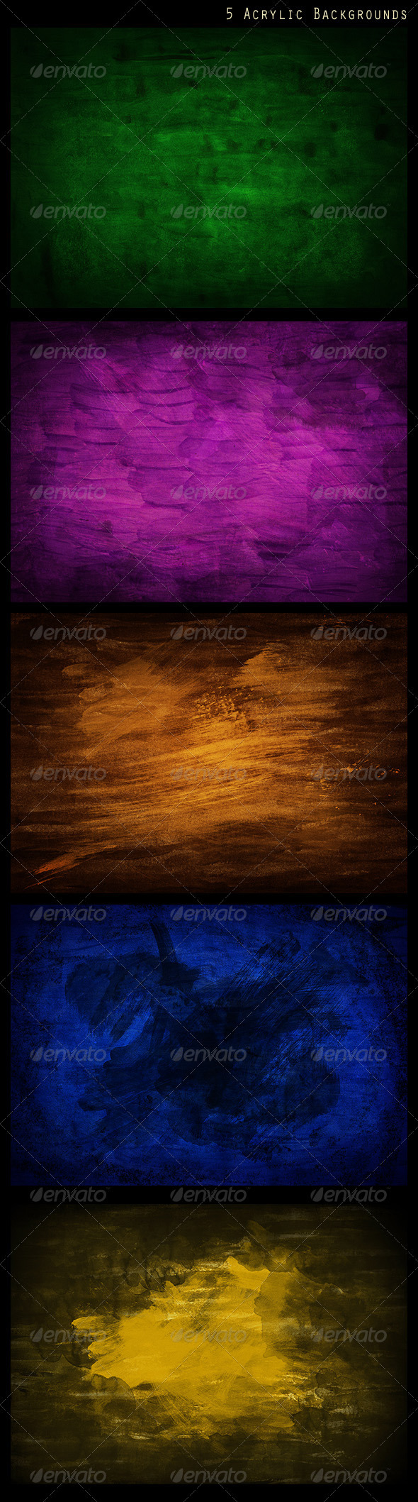 GraphicRiver 5 Acrylic Backgrounds 2630157