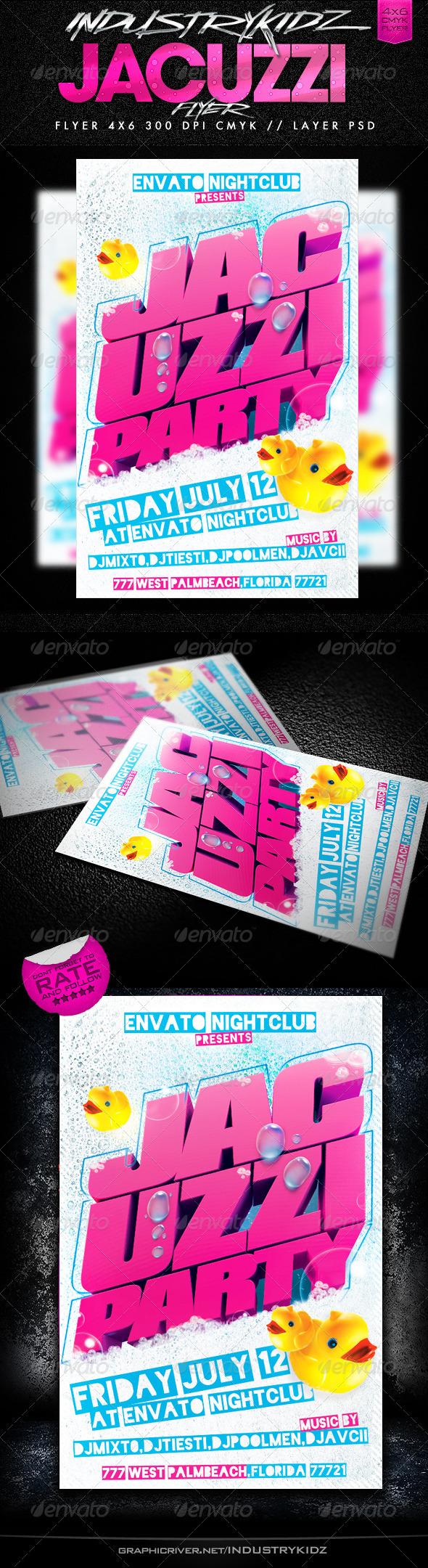 Jacuzzi Party Flyer - Events Flyers