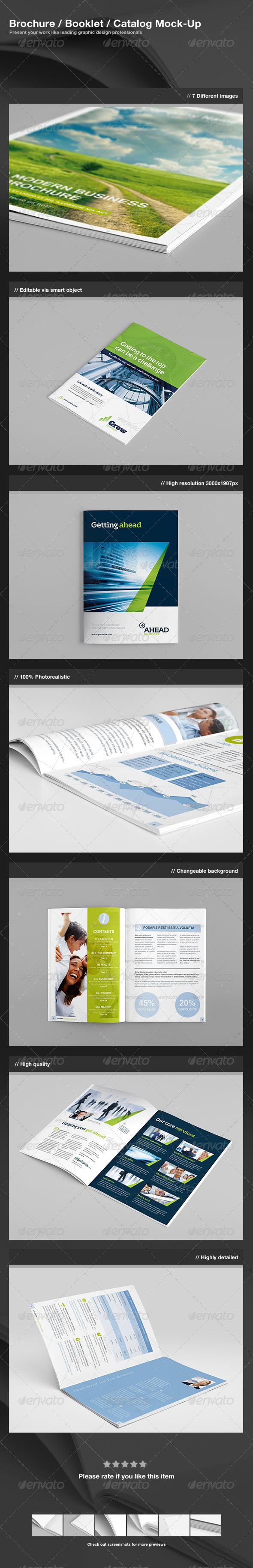 GraphicRiver Brochure Booklet Catalog Mock-Up 2616490