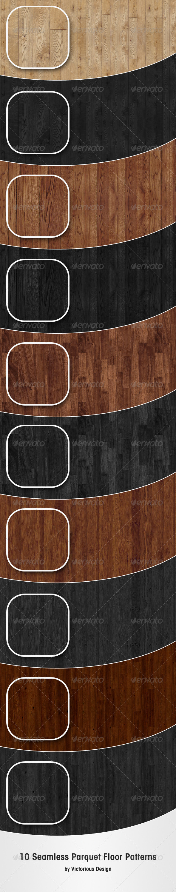 GraphicRiver 10 Parquet Floor Patterns 2630642