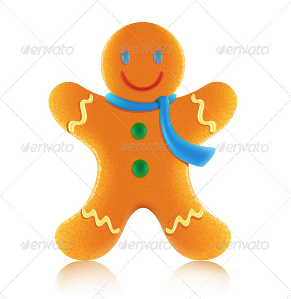 GraphicRiver Gingerbread man cookie 2631048