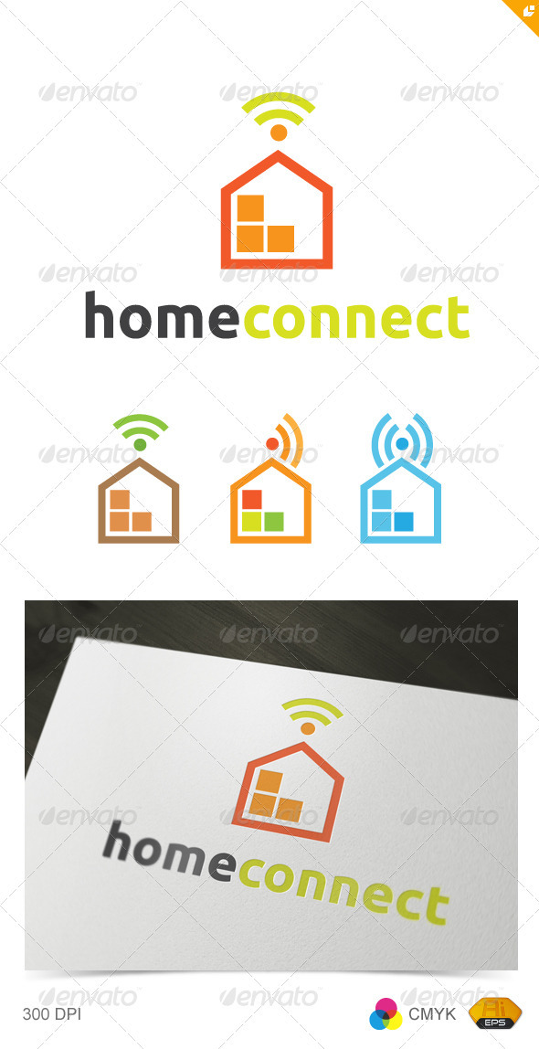 Home Connect - Buildings Logo Templates