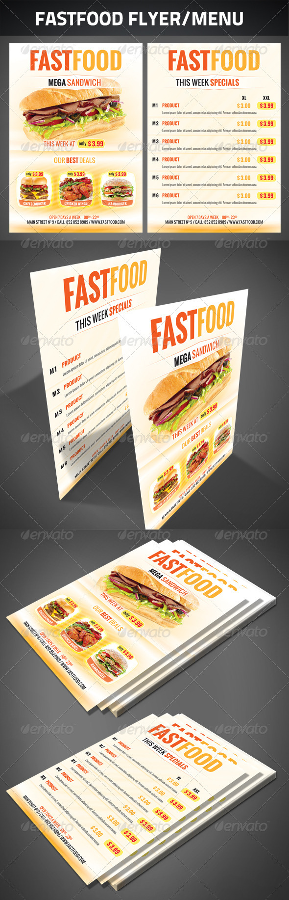 GraphicRiver FastFood Flyer 2631106