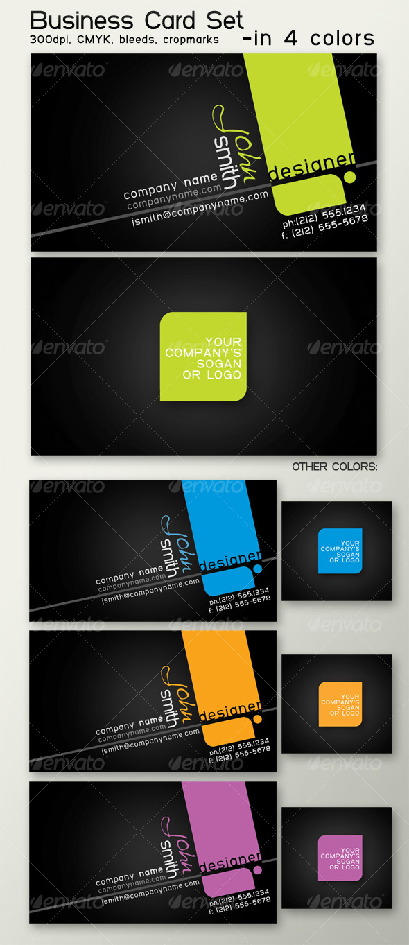 GraphicRiver Business card in 4 colors 95354