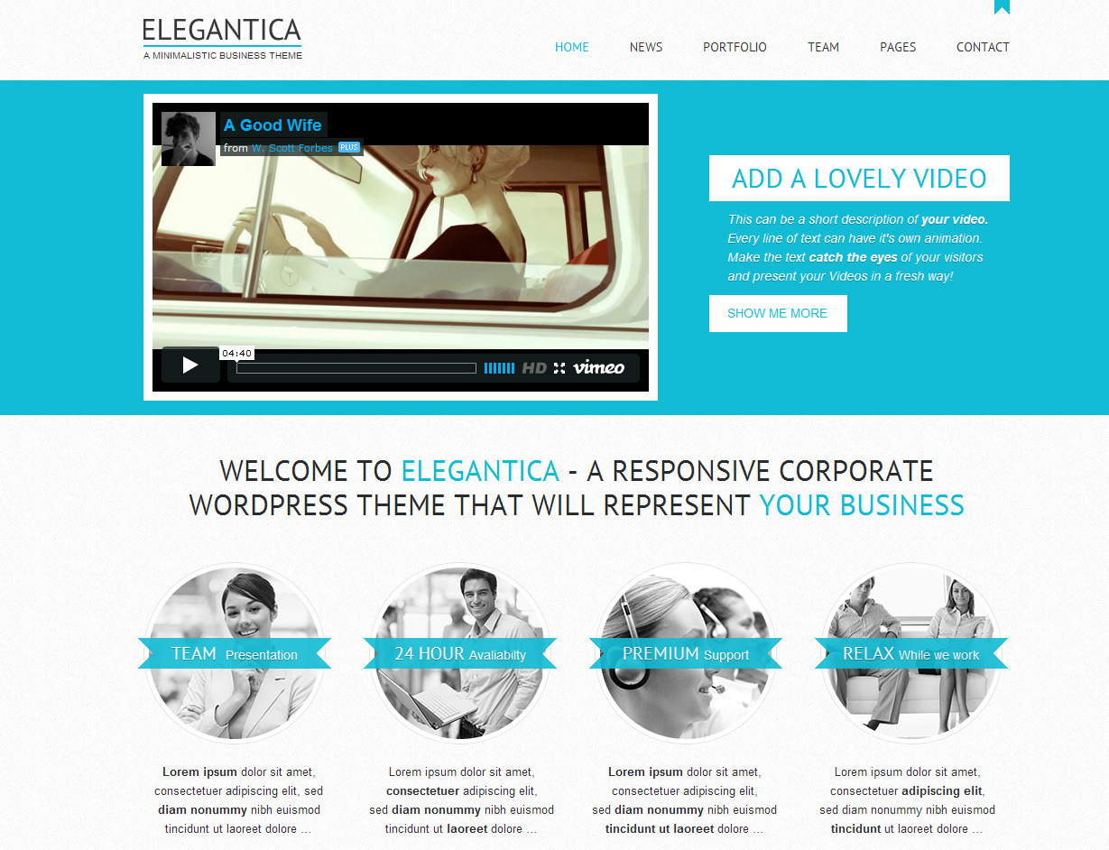 elegantica responsive business wordpress theme by gljivec themeforest. Black Bedroom Furniture Sets. Home Design Ideas