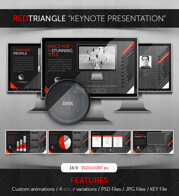 Keynote - RedTriangle Theme - Business Keynote Templates