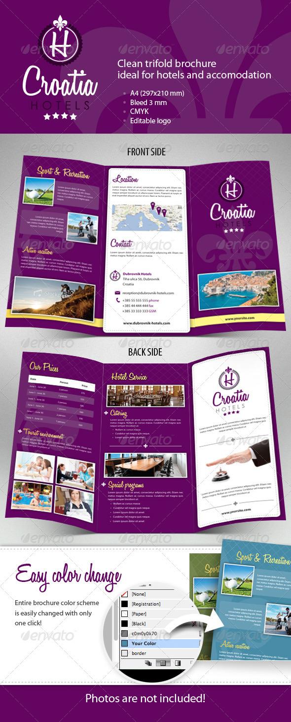 Hotel Trifold Brochure - Informational Brochures