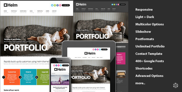 Helm Responsive Portfolio for WordPress - Portfolio Creative