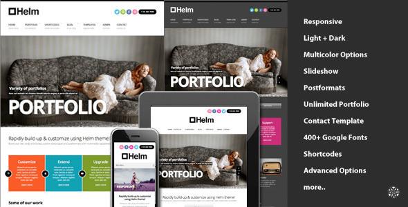 Helm - Tema Responsive de Portfolio para WordPress