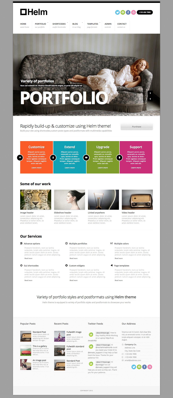Helm Responsive Portfolio for WordPress