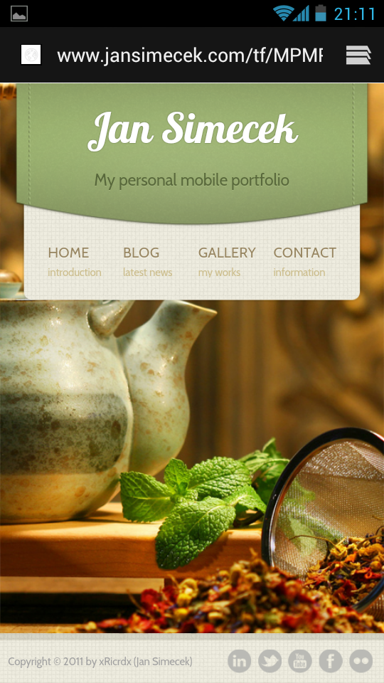 My Personal Mobile Portfolio