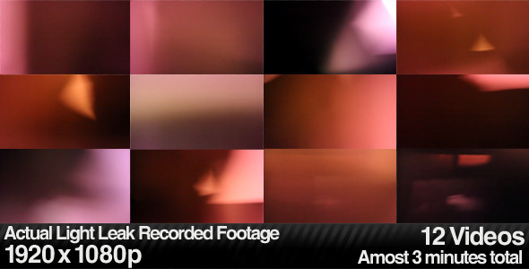 VideoHive Actual Light Leaks Burns & Lens Flares 12-Pack 2633425