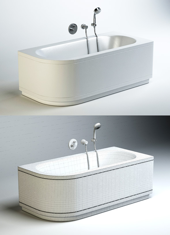 Quality 3dmodel of bath Bettestarlet V Comfort - 3DOcean Item for Sale