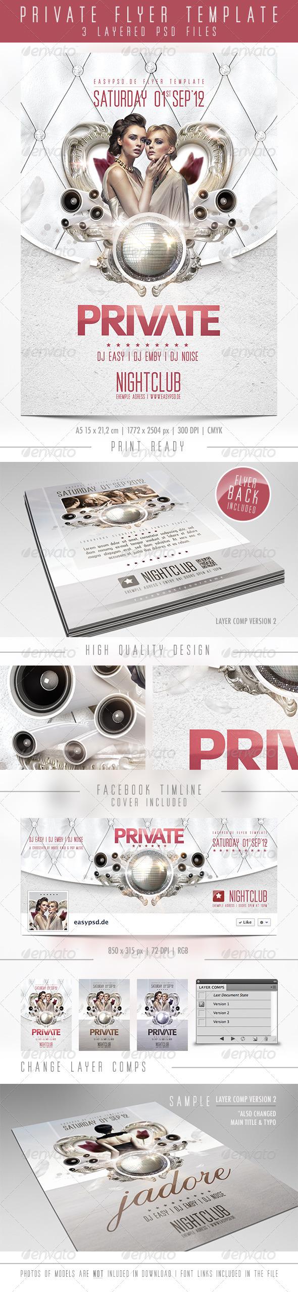 GraphicRiver Private Flyer Template 2633933