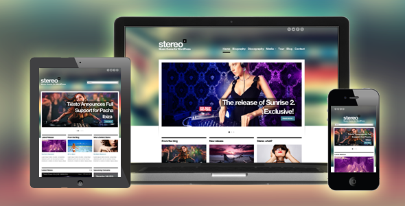Stereo Squared - Responsive HTML template