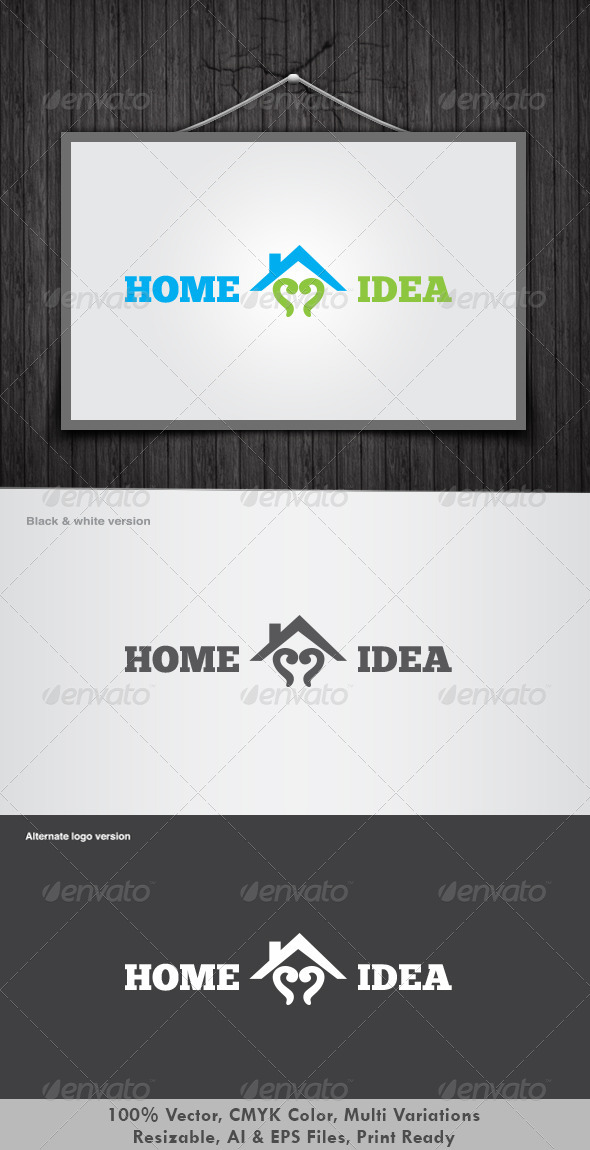 Home Idea Logo - Vector Abstract