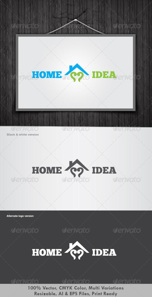 Home Idea Logo - Vector Abstract