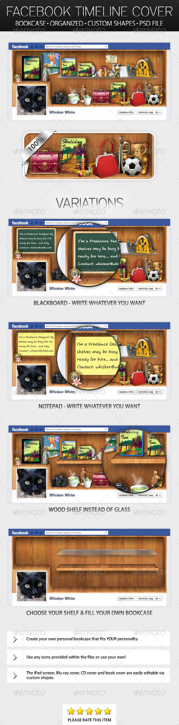 Bookcase - Facebook Timeline Cover - Facebook Timeline Covers Social Media
