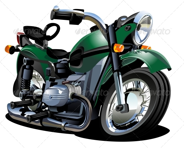 GraphicRiver Vector Cartoon Motorcycle 2635716