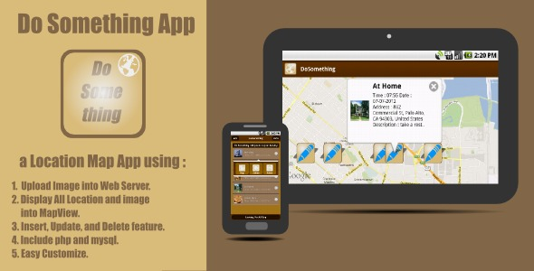 CodeCanyon Do Something App a Location Map Application 2627314