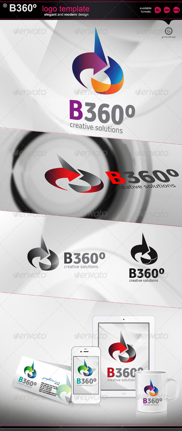 GraphicRiver B 360 logo template 2635954