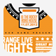 Orange Live Nights - GraphicRiver Item for Sale