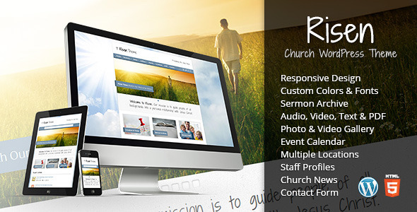 ThemeForest Risen Church WordPress Theme Responsive 2632774