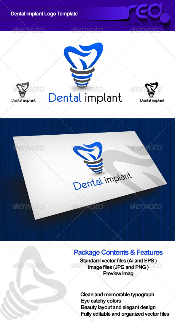 GraphicRiver Dental Implant Logo 2637675