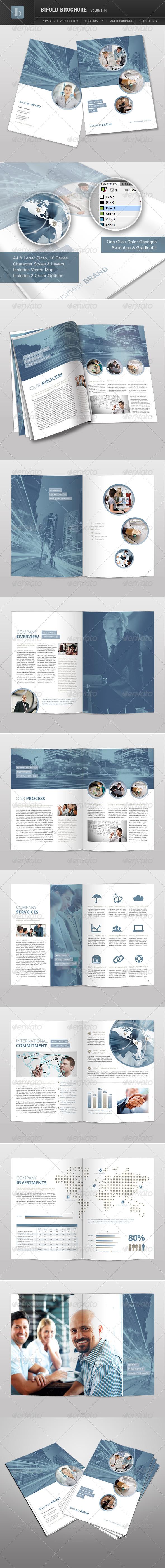Bifold Brochure | Volume 14 - Brochures Print Templates