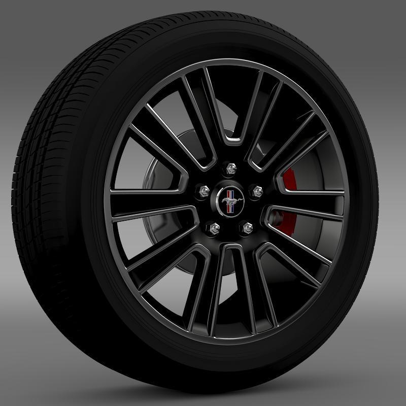 3DOcean Ford Mustang 2010 wheel 2637882