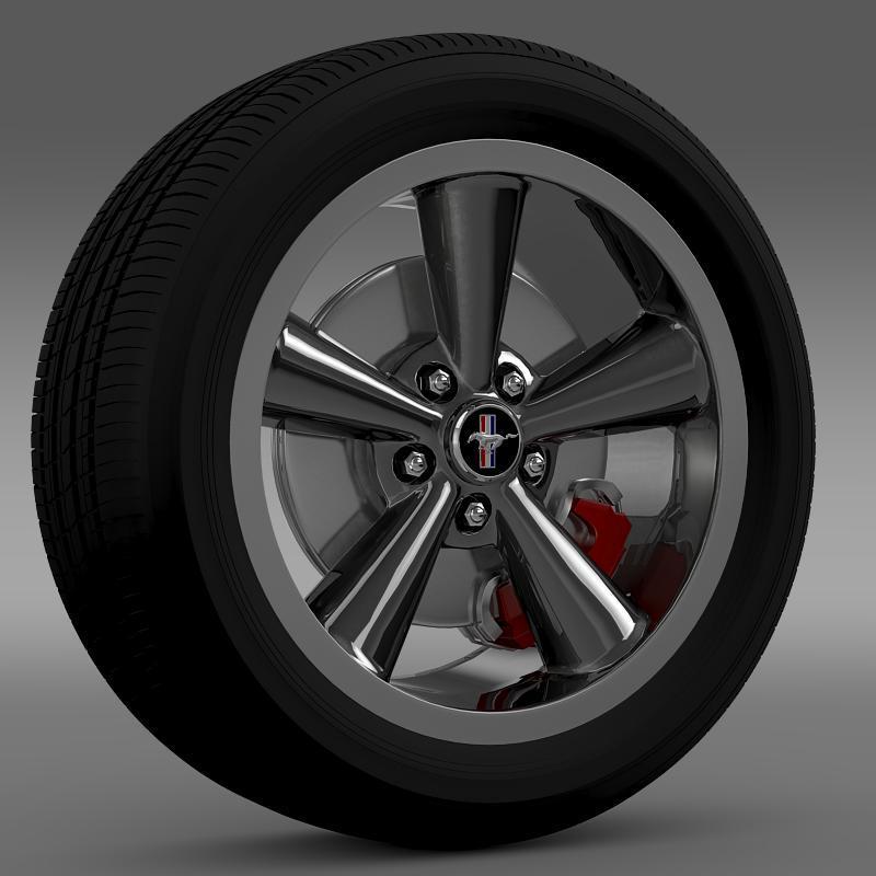 Ford_Mustang Bullit 2008 wheel - 3DOcean Item for Sale