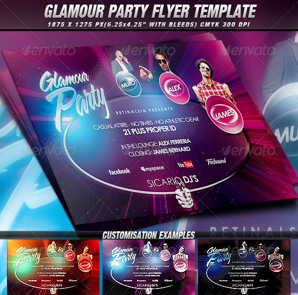 GraphicRiver Glamour Party Flyer Template 2622390