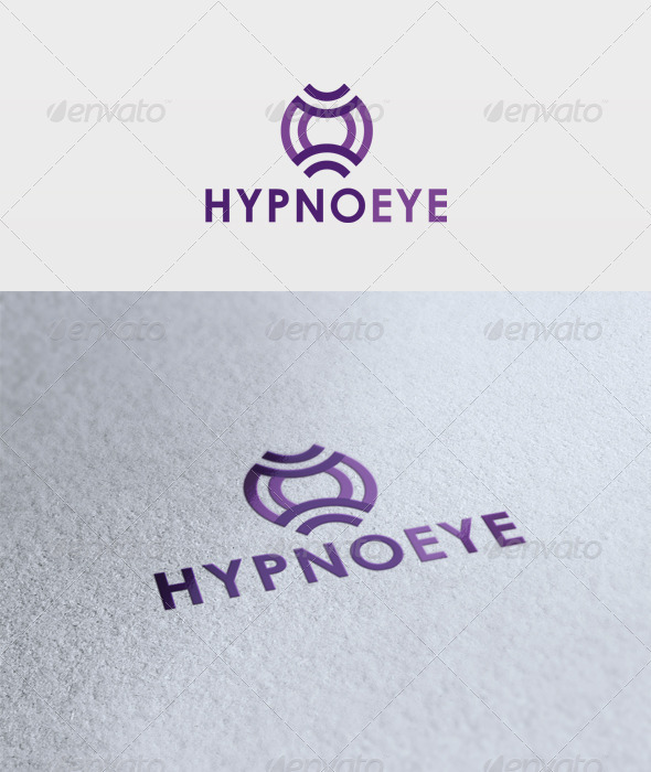 Hypno Eye Logo - Vector Abstract