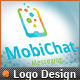 Cellular Phone Application Mobile Chat Logo Design - GraphicRiver Item for Sale