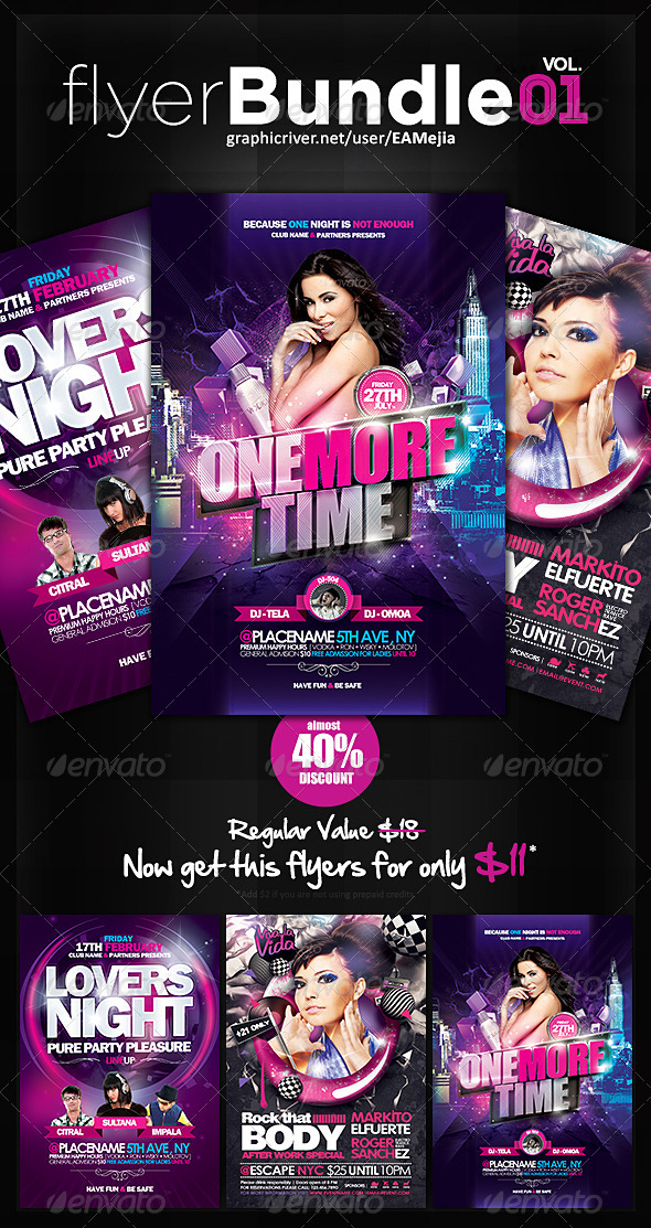 Flyer Bundle Vol. 1 - Events Flyers