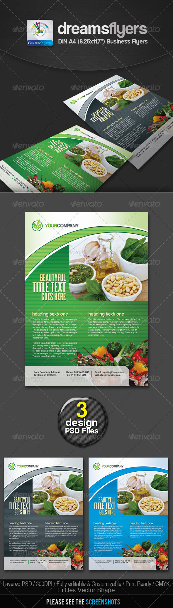 Vegit Multipurpose Business Flyers - Corporate Flyers