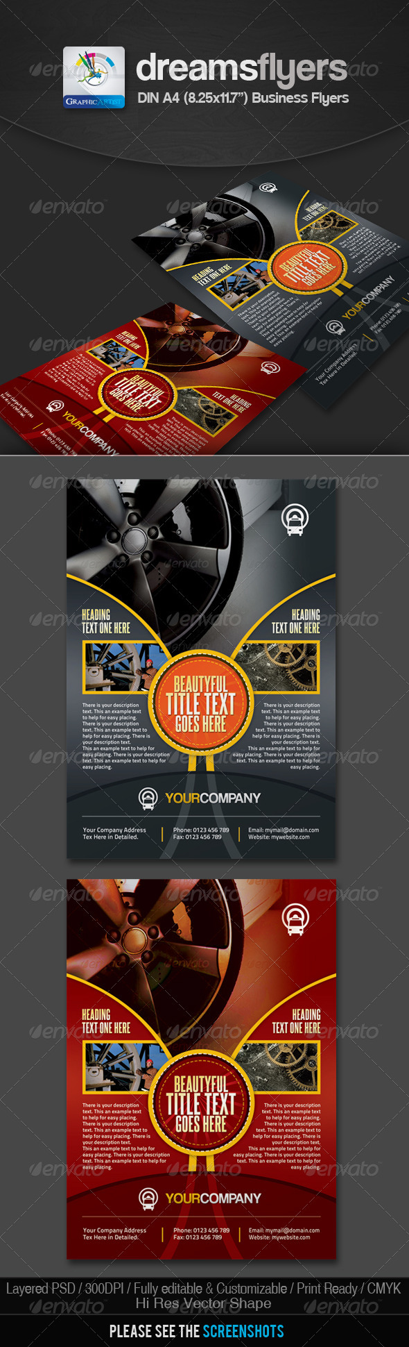 GraphicRiver DarkOval Multipurpose Business Flyers 2639947