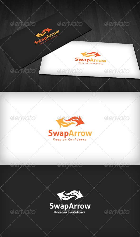 Swap Arrow Logo - Vector Abstract