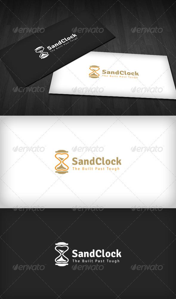 Sand Clock Logo - Vector Abstract