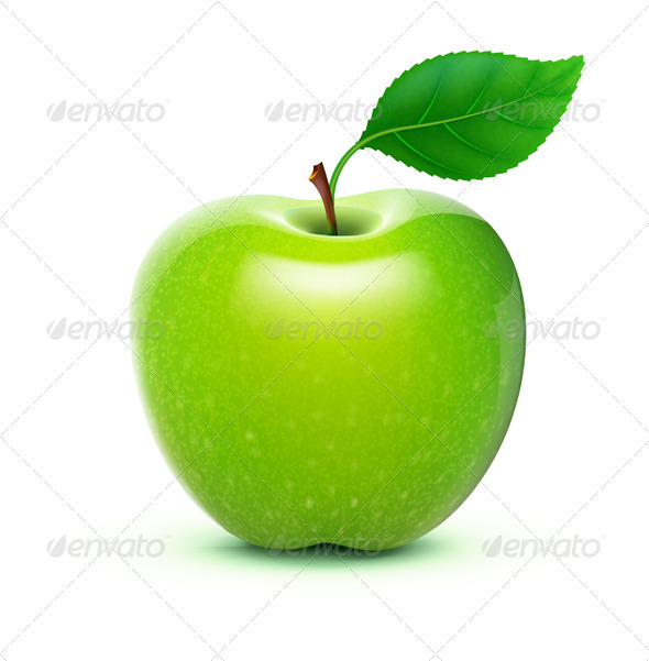 Green Apple - Food Objects