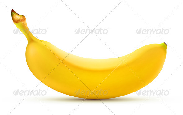 Yellow Banana - Food Objects