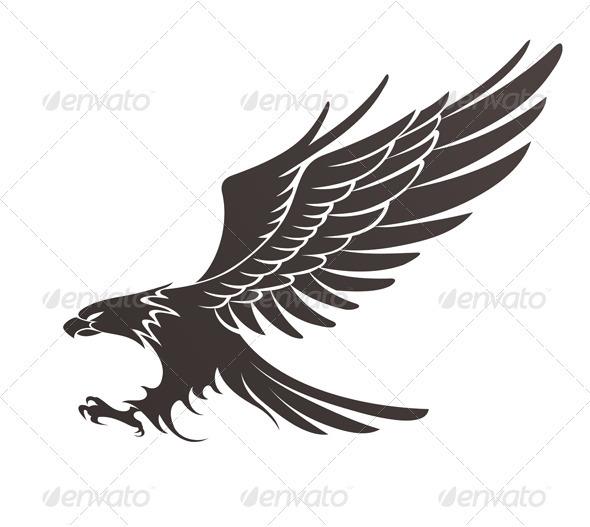 Coat-of-arms Bird - Tattoos Vectors