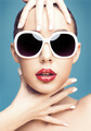 young woman wearing sunglasses - PhotoDune Item for Sale