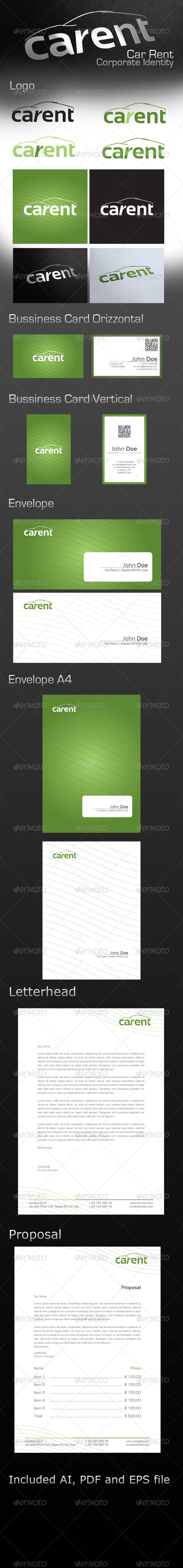 Car Rent Corporate Identity - Stationery Print Templates