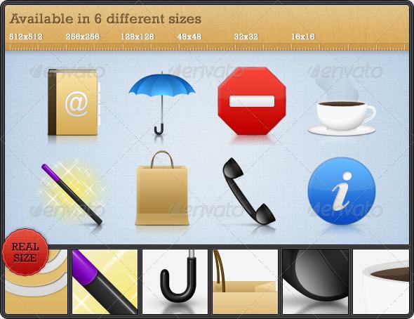 GraphicRiver High Quality Premium Icons Set 4 108453