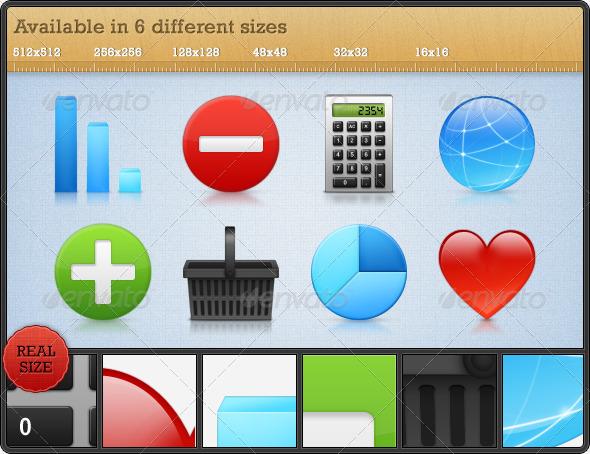 GraphicRiver High Quality Premium Icons Set 5 108454