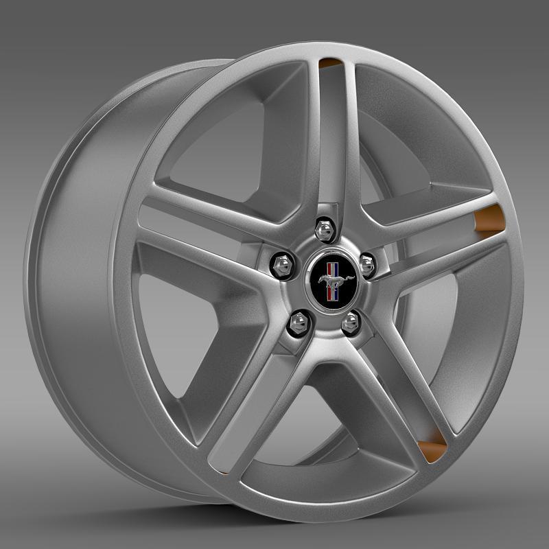 3DOcean Ford Mustang 2010 AV X 10 rim 2641471